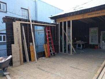 Subfloor on the back half of the downtown luxury slum