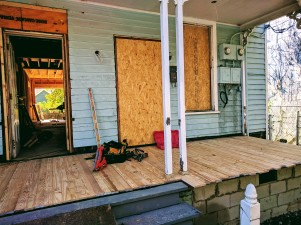 Rebuilt porch