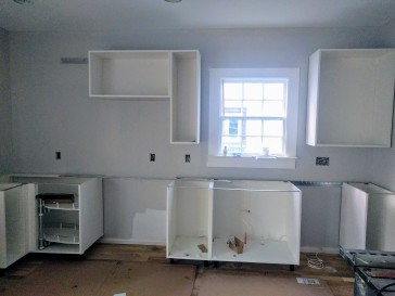 Kitchen side wall cabinet frames