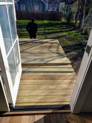 Deck from the kitchen