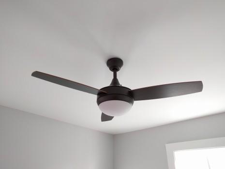 Bedroom fan and light
