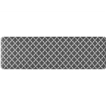 GORILLA GRIP Original Premium Anti-Fatigue Comfort Mat in Quatrefoil Gray and White from Amazon