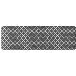 GORILLA GRIP Original Premium Anti-Fatigue Comfort Mat in Quatrefoil Gray and White from Amazon