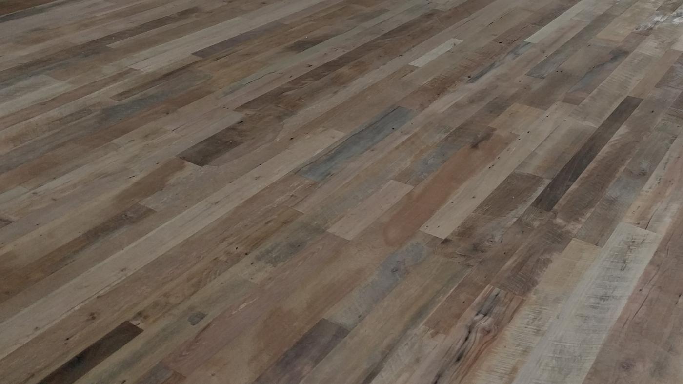 Unfinished wood floors