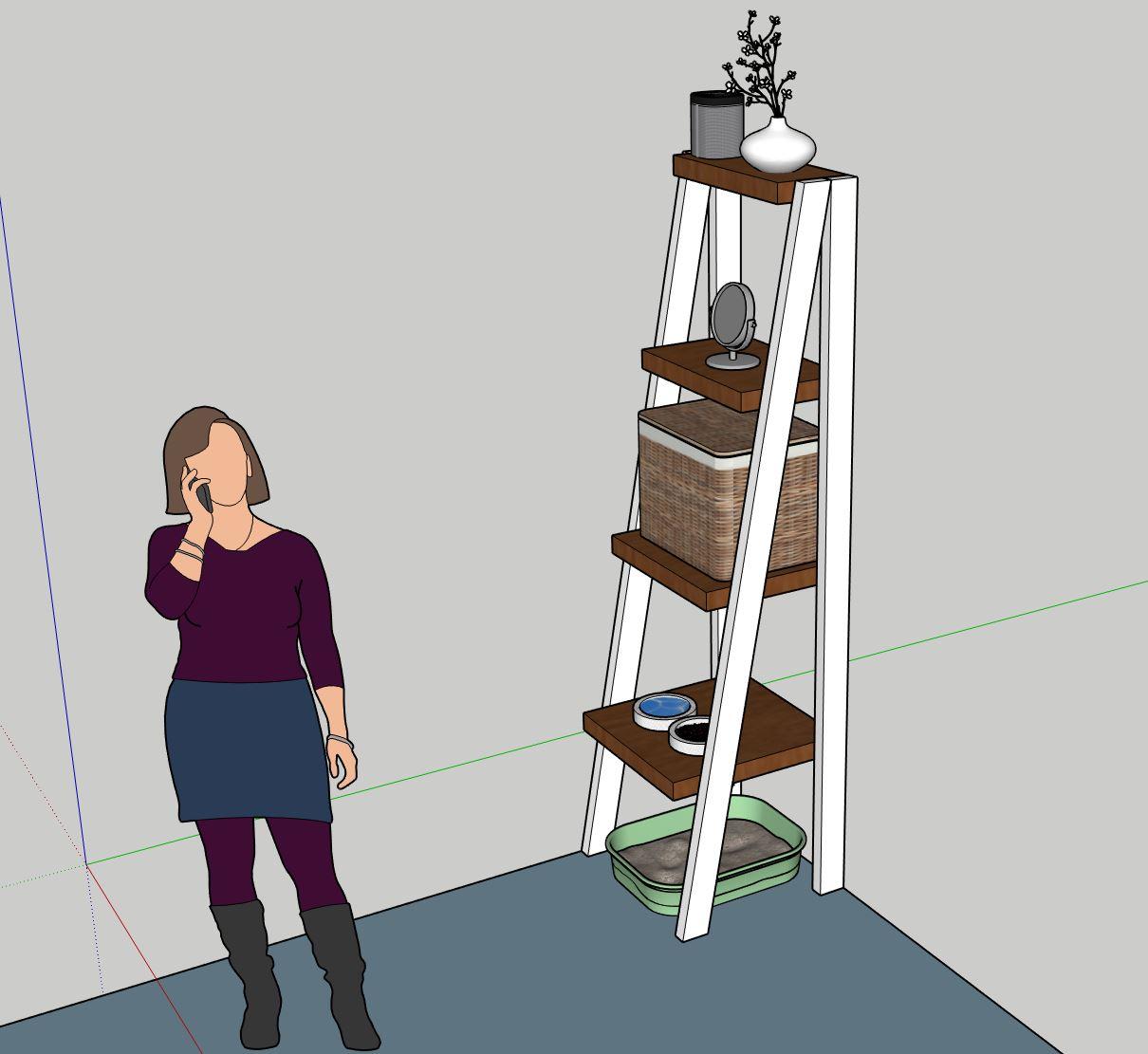 Sketch of cat shelf