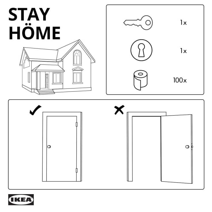 IKEA Stay Home Instructions