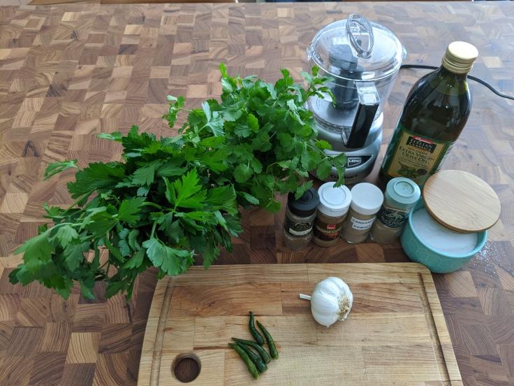 Zhug ingredients