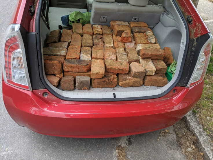 Prius full of bricks