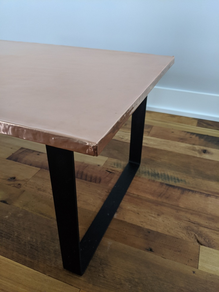 DIY custom copper table