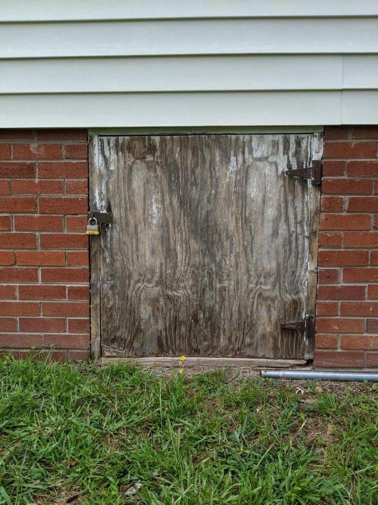 Old crawlspace door