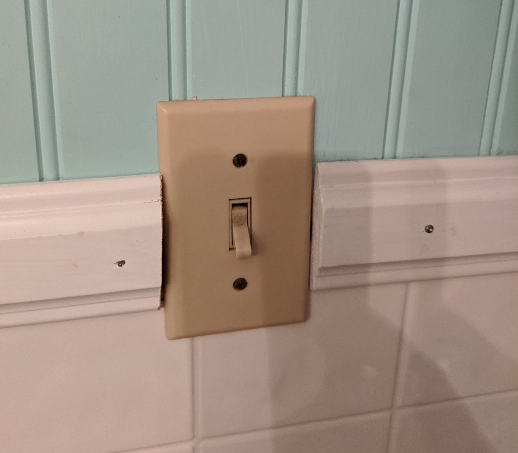 Beige light switch and face plate