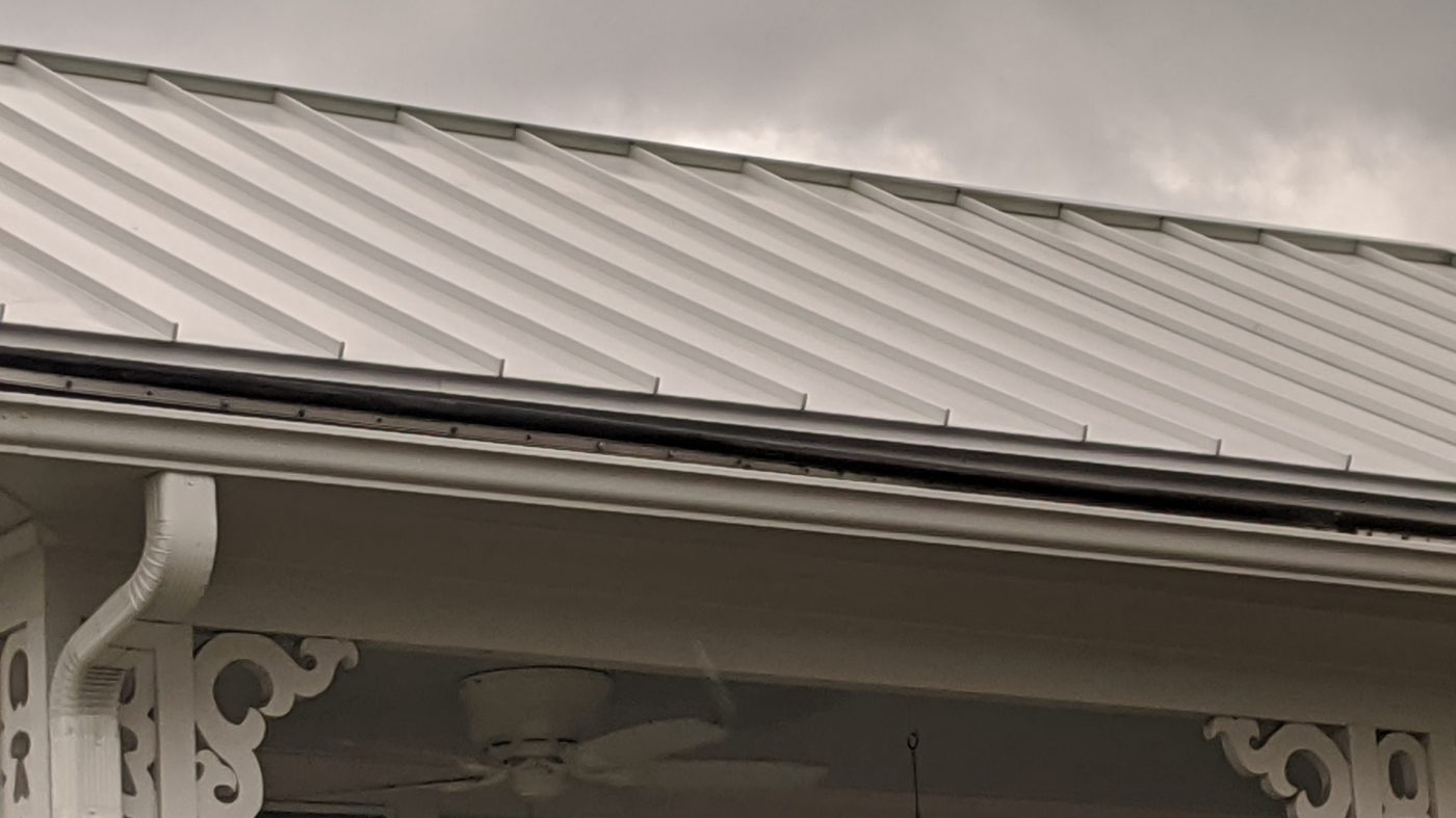 A new metal roof