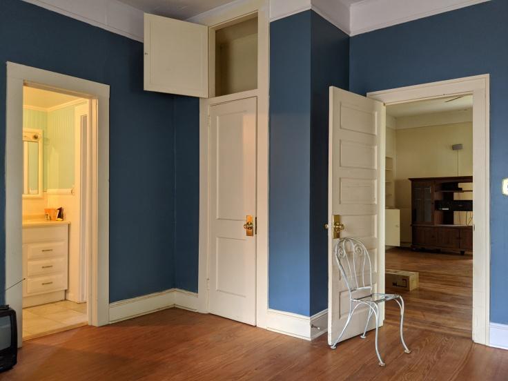 Pre-renovation bedroom