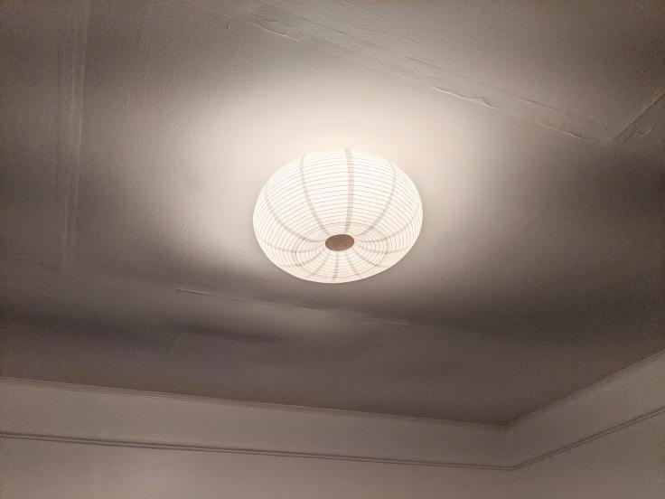 Bedroom ceiling after renovation