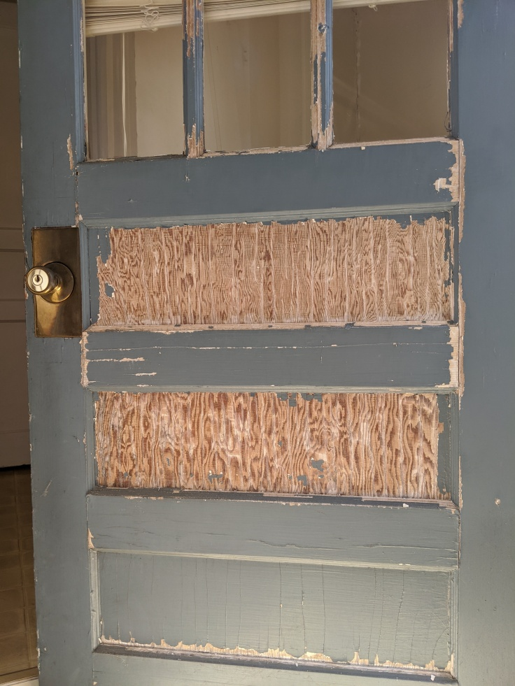 Back Door Before Painting