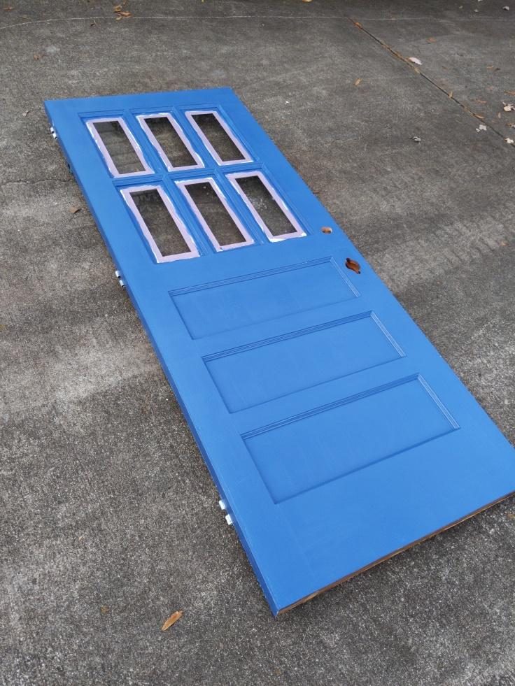 Exterior Door During Painting