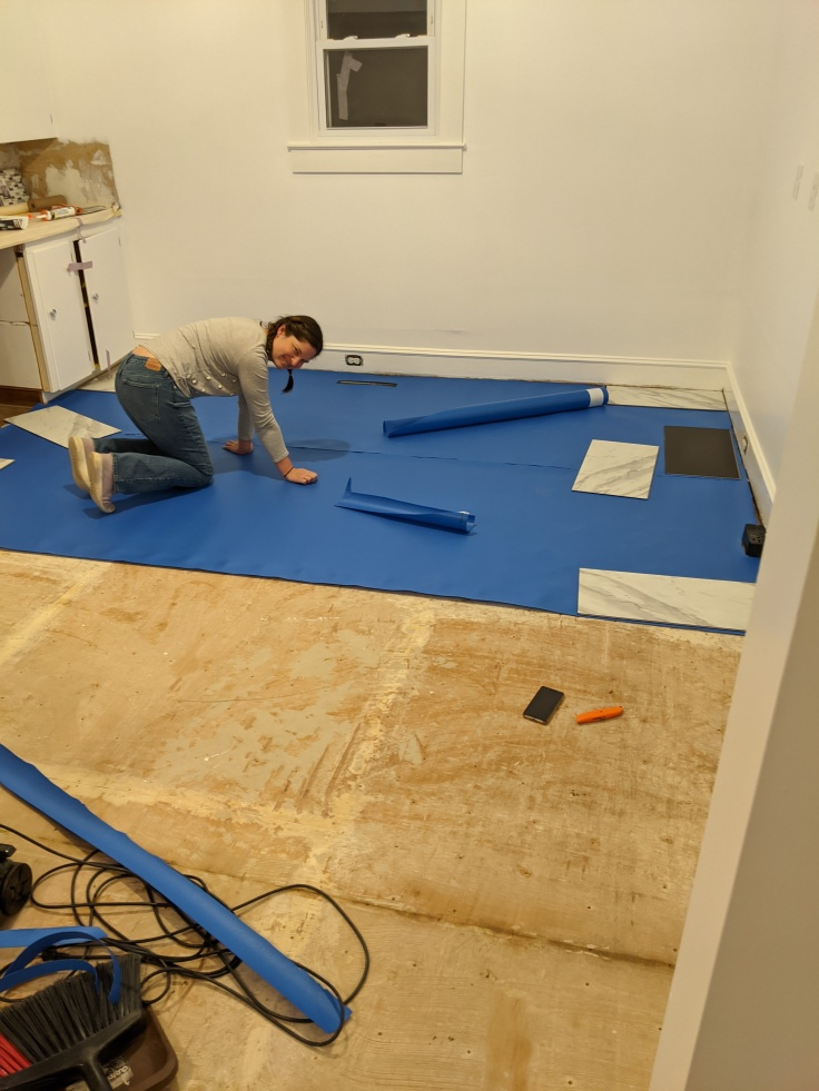 Laying Underlayment for LVT