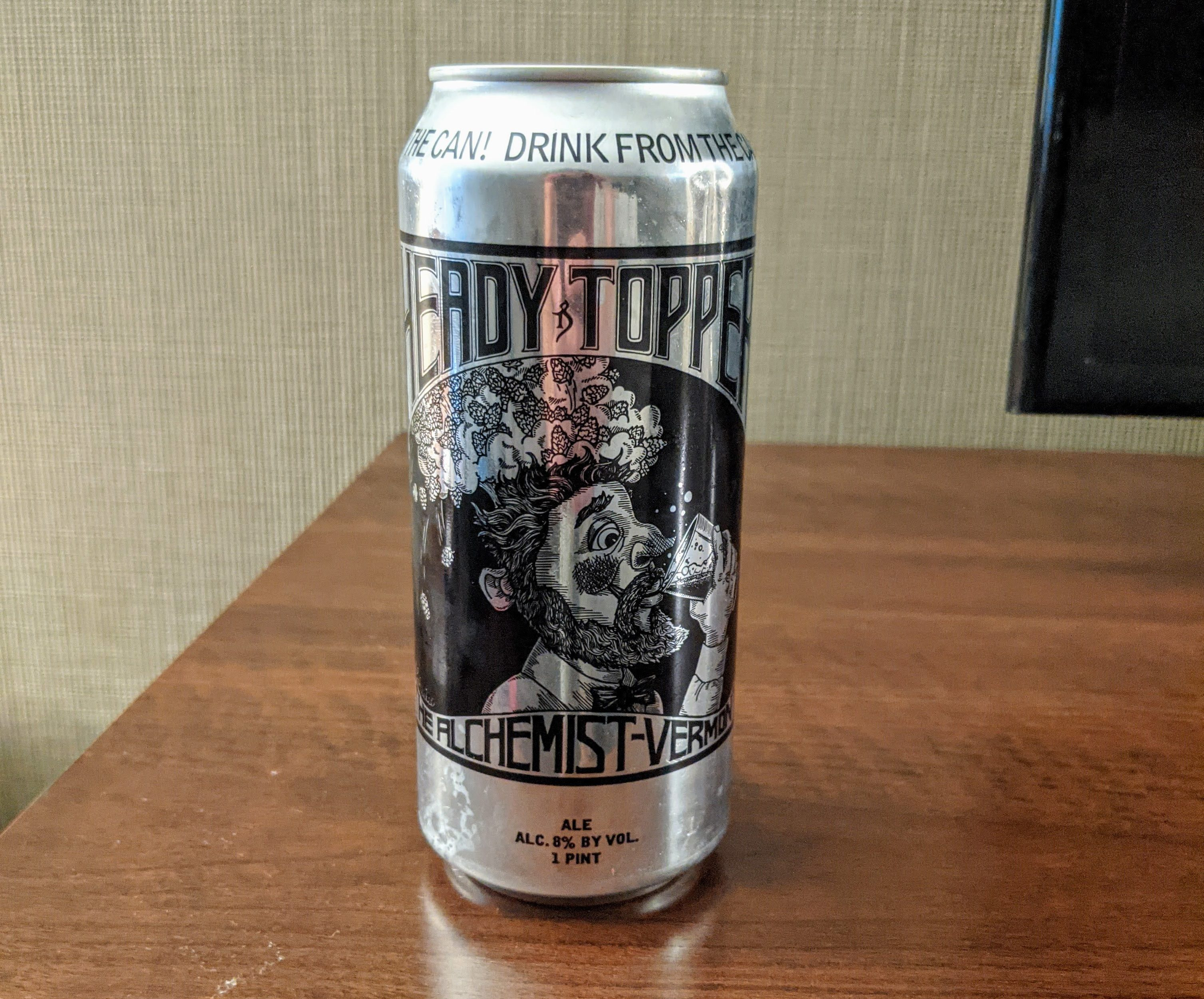 Heady Topper from the Alchemist Stowe